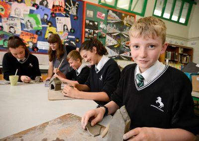 Horsforth School art and sculpture