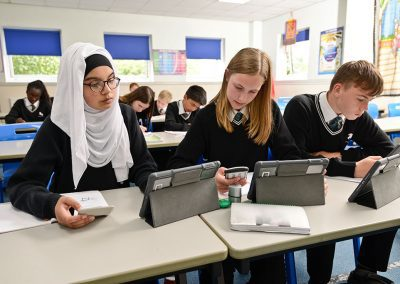 Horsforth School tablets in class