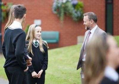 Horsforth School Pupils and Teacher